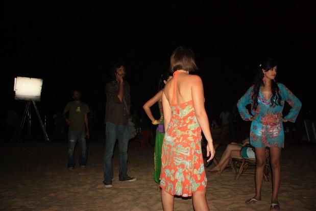 съемки на пляже Гоа