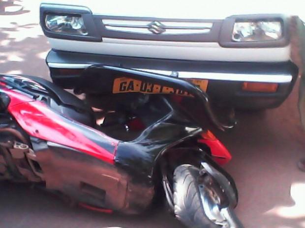авария скутер