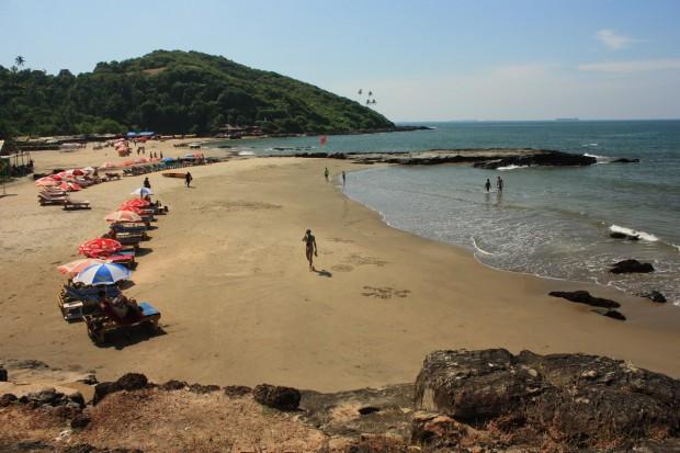 пляж Small Vagator, Маленький Вагатор, Гоа